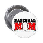 Botón de la mamá del béisbol pins