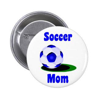 Botón de la mamá del fútbol pin