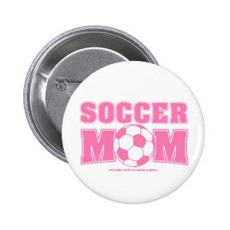 Botón de la mamá del fútbol pins