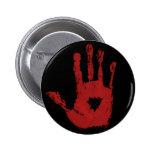 Botón de la mano de la sangre pins