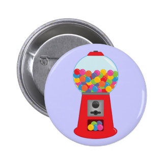 Botón de la máquina de Gumball Pin Redondo De 2 Pulgadas