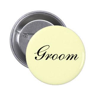 Botón de la marfil del novio pin
