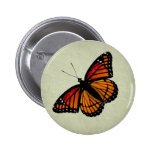 Botón de la mariposa de monarca pins