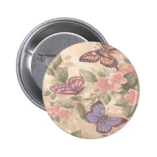 Botón de la mariposa pin redondo de 2 pulgadas