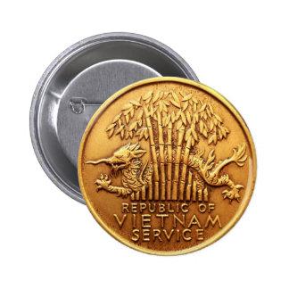Botón de la medalla al servicio de Vietnam Pin