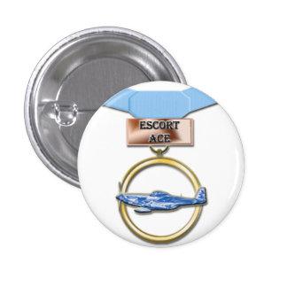 Botón de la medalla del as del acompañamiento