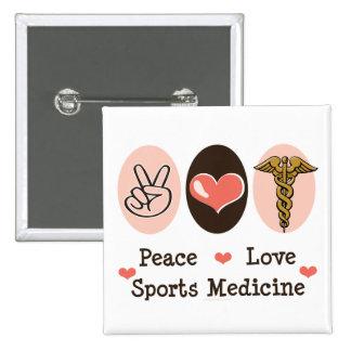 Botón de la medicina de deportes del amor de la pa pin
