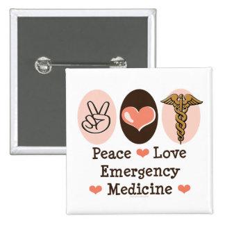 Botón de la medicina de la emergencia del amor de