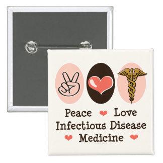Botón de la medicina de la enfermedad infecciosa d