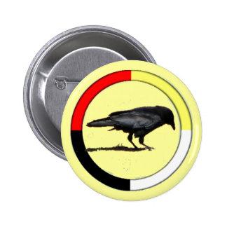 Botón de la medicina del cuervo pin redondo de 2 pulgadas
