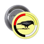 Botón de la medicina del cuervo pins