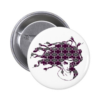 Botón de la MEDUSA Pin Redondo De 2 Pulgadas