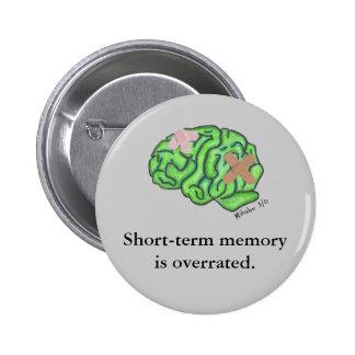 "Botón de la ""memoria a corto plazo"" (redondo) pin redondo de 2 pulgadas"