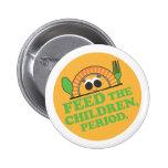 Botón de la misión de la comida de los niños - tex pins