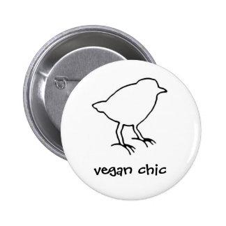 botón de la moda del vegano pins