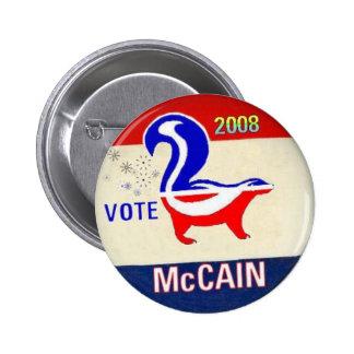 Botón de la mofeta del GOP de McCain Pin