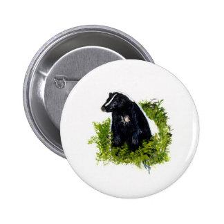 Botón de la mofeta pin redondo de 2 pulgadas