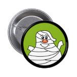 Botón de la momia de Halloween Pins