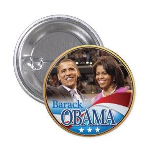 Botón de la moneda de Barack Obama y de Michelle O