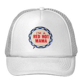Botón de la mordaza del kitsch del vintage soy una gorras de camionero