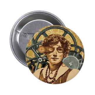 Botón de la mujer de Steampunk Pins