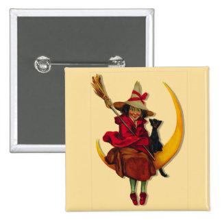 Botón de la mujer de Witchy