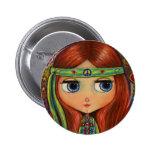 Botón de la muñeca del Hippie de la paz Pin