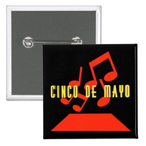 Botón de la música de Cinco de Mayo