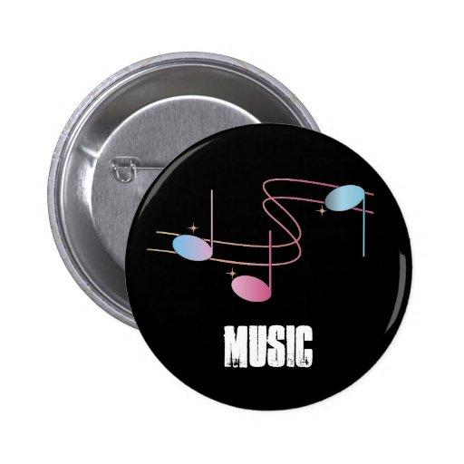Botón de la música pin