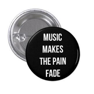 Botón de la música pin redondo de 1 pulgada