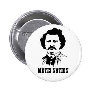 Botón de la nación de Metis Pins