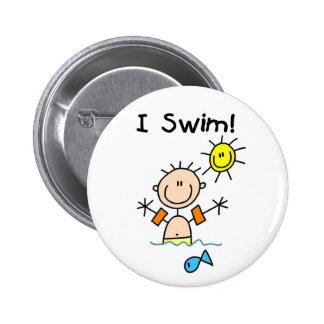 Botón de la nadada del muchacho I Pins