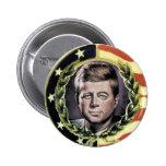 Botón de la nostalgia de JFK Pin Redondo De 2 Pulgadas