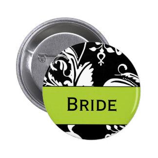 Botón de la novia de B&G Pin Redondo De 2 Pulgadas