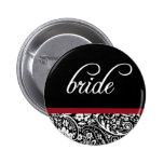 Botón de la novia de la belleza del damasco pin