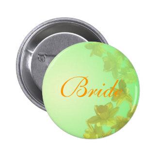 botón de la novia del boda, flores amarillas del pin redondo de 2 pulgadas