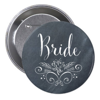 Botón de la novia del estilo de la pizarra