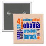 Botón de la nube de la etiqueta de Barack Obama 20 Pin