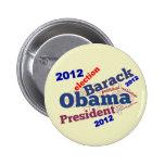 Botón de la nube de la reelección de Barack Obama Pins