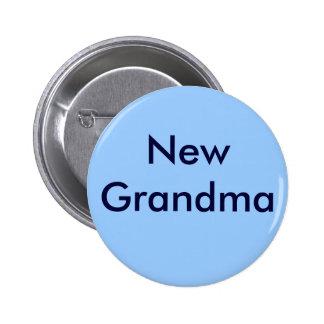 "Botón de la ""nueva abuela"" pin redondo de 2 pulgadas"
