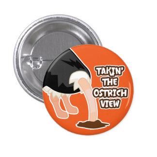 Botón de la opinión de la avestruz
