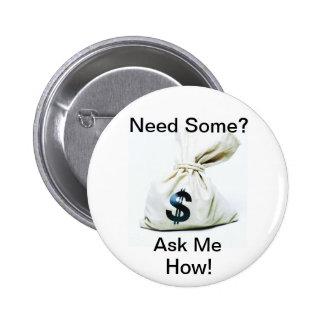 Botón de la oportunidad de negocio pin redondo de 2 pulgadas
