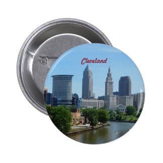 Botón de la orilla de Cleveland OH Pin Redondo De 2 Pulgadas