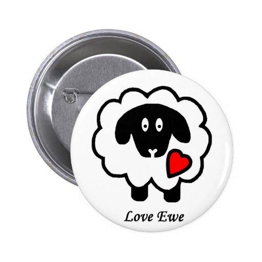 Botón de la oveja del amor pin