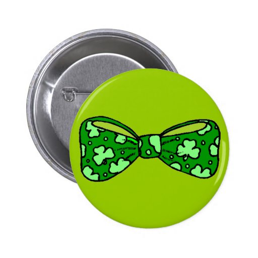 Botón de la pajarita del verde del día de St Patri Pins