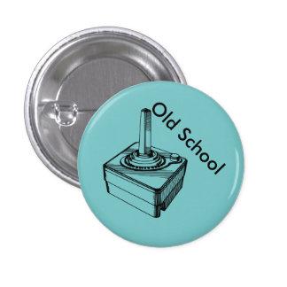 Botón de la palanca de mando de la escuela vieja pin redondo de 1 pulgada