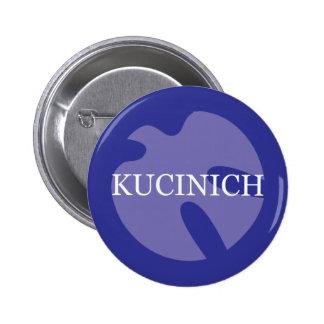 Botón de la paloma de Kucinich Pin Redondo De 2 Pulgadas