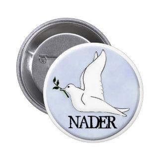 Botón de la paloma de la paz de Nader Pin Redondo De 2 Pulgadas