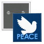 Botón de la paloma de la paz pin