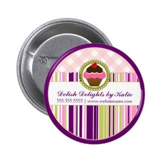 Botón de la panadería de la magdalena pin redondo de 2 pulgadas